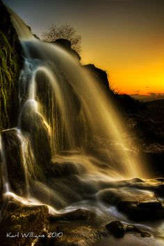 Sunset Spray by Karl Williams - The Loup of Fintry, River Endrick, Stirlingshire