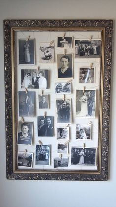 Vintage deco ornate old family photos of the picture frame, apartment decoration . - Vintage decoration ornate old family photos of the picture frame, the apartment - Ornate Picture Frames, Picture Frame Decor, Picture Wall, Frame Wall Decor, Diy Frame, Diy Wall, Vintage Diy, Vintage Frames, Photo Vintage