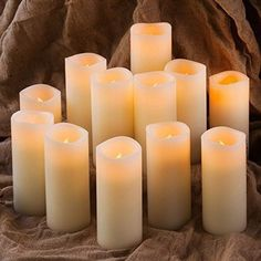 Flameless Candles, Battery Candles Set of x Pillar LED Candles With Remote Timer by Comenzar (Ivory)(Batteries not included) (Affiliate link) Battery Candles, Flameless Candles, Pillar Candles, Altar Decorations, Wedding Decorations, Wedding Ideas, Wedding Stuff, Wedding Planning, Dream Wedding