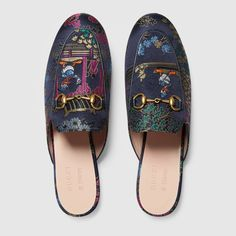Princetown jacquard slipper with Donald Duck - Gucci Women's Moccasins & Loafers 423514K8M604374