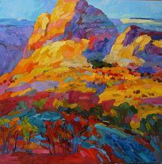 larisa aukon paintings | Gold by Larisa Aukon Oil ~ 40 x 40