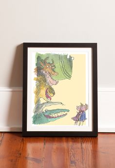Roald Dahl characters, brought to life through Sir Quentin Blake's iconic illustrations and available framed.