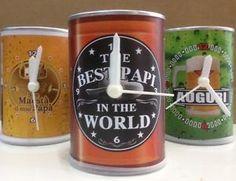 Orologio lattina barattolo PAPA' idea regalo varie scritte  | eBay