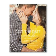 40% OFF  Dotted Day - Photo Save the Date   http://mediaplus.carlsoncraft.com/Wedding/Save-the-Dates/3254-TWSSD40783-Dotted-Day--Photo-Save-the-Date.pro