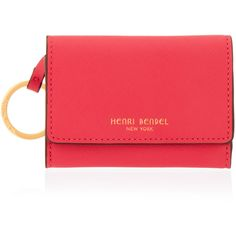 Henri Bendel West 57th Coin Purse (1.516.400 VND) ❤ liked on Polyvore featuring bags, wallets, dk pink, change purse, coin pouch wallet, pink coin purse, henri bendel and henri bendel bags