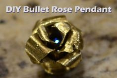 Picture of DIY Brass Bullet Casing Rose Pendant
