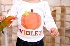 Personalized Pumpkin Kids Shirt for Girls Boys and Babies for Fall | FUNKY MONKEY THREADS,#FMT, #funkymonkeythreads, #thanksgiving, #pumpkin