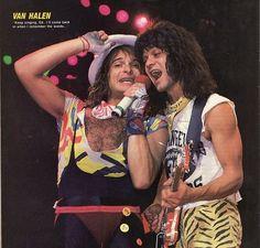 David Lee Roth getting by on his charm with Eddie Van Halen