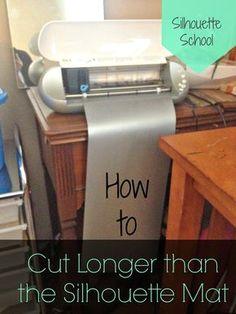 Silhouette Tutorial: Cutting Longer Than the Mat ~ Silhouette School