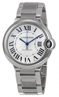 Cartier watches are the mechanics of passion, a fusion of cutting-edge technology and character. This women's watch from the Ballon Bleu collection features a stainless steel bracelet and silver automatic dial. Cartier Santos, Cartier Love, Stainless Steel Watch, Stainless Steel Bracelet, Sport Watches, Watches For Men, Nice Watches, Amazing Watches, Women's Watches