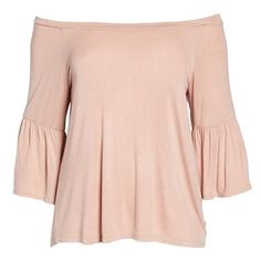 d29b19c79f7 Plus Size Women s Bobeau Off The Shoulder Bell Sleeve Top ( 33) ❤ liked on