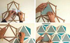 DIY Art-wall-art-mosaic-geometric-how-to