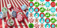 Free Printable Christmas Hershey's Kisses Stickers by U Create
