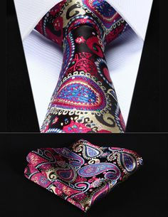 Time Square Paisley Tie and Handkerchief