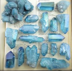 Aqua Quartz, my favorite. Aqua Quartz, my favorite. Crystal Healing Stones, Crystal Magic, Stones And Crystals, Blue Crystals, Witch Aesthetic, Blue Aesthetic, Minerals And Gemstones, Rocks And Minerals, Crystal Aesthetic