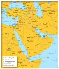 Saudi Arabia political map Every Country has a Story SZ