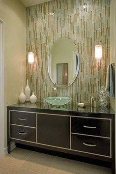 Skyline Ave. Blend in this contemporary bathroom by Megan Crane Designs, Inc.