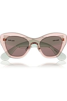 Miu Miu   Two-tone cat eye acetate sunglasses Oakley Sunglasses, Pink  Sunglasses, 1d1bd29c6b