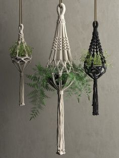 Macrame Hanging Pots With Plants D Fabric Cgtrader; macrame hanging pendants with . Macrame Design, Macrame Art, Macrame Knots, Hanging Plants Outdoor, Hanging Pots, Plants Indoor, Hanging Pendants, Macrame Wall Hanging Patterns, Macrame Patterns