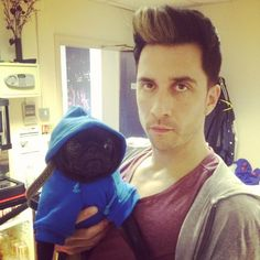 Russell Kane and his pug Colin  <3