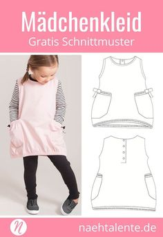 Most current Free Sewing clothes tunics Ideas Mädchen-Tunika Gratis Schnittmuster ❤️ Gr. Sewing Patterns Free, Free Sewing, Clothing Patterns, Free Pattern, Sewing Tips, Pattern Sewing, Sewing Tutorials, Sewing Dress, Sewing Clothes