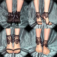 Portrait of an Ankle Corset  Tatted Lace Accessories by TotusMel, $90.00