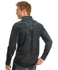 Roar Embroidered Long Sleeve Shirt