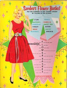 Sandra Dee Play Kit, 1960 Saalfield/Artcraft #6084 (7 of 7)