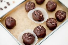 Chocolate Chickpea Truffles by Keepin' It Kind #veganMonster