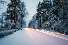 awesome Snowed Road Free Download Picture