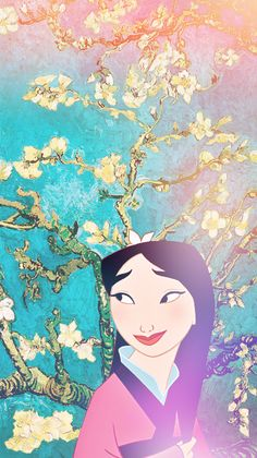 Some iPhone 5 Disney & Van Gogh wallpapers! Mulan (source: annabjorgmans.tumblr.com)