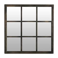 Bronze Window Pane Decorative Mirror, 20x20 | Kirklands