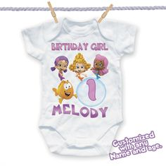 Bubble Guppies Shirt Custom Name-Age Personalized Guppies Family Birthday Shirts
