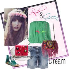 Pink & Green Dream, created by suzanne-balestri on Polyvore