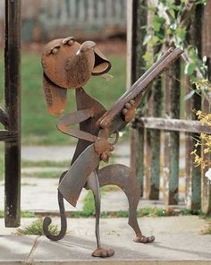 Guard dog sculpture...cool stuff on this site but a bit expensive...a lot of Southwest...
