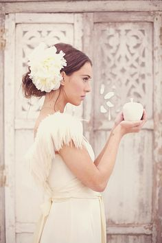 Peonies make gorgeous hair accessories