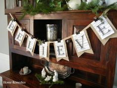 Believe banner....great diy....attached with binder clips!