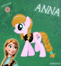 anna and elsa pony | anna pony from frozen by doragoon fan art cartoons comics digital ...