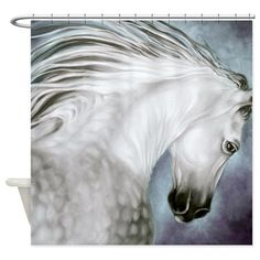 Andalusian Silver Horse Shower Curtain