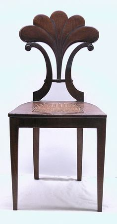 Side Chair Date: ca. 1825 Culture: Austrian Medium: Solid beech wood (front and side rails), solid pine wood (back splat?, supporting middle seat rail and seat frame), solid walnut (legs), walnut veneer, cane (seat).