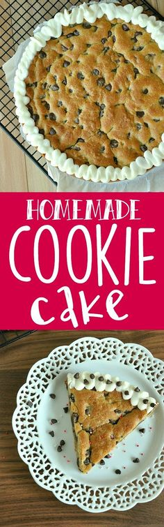 Hello best cookie cake of my life! Skip the mall and make the most amazing soft, chewy, chocolatey, over-the-top delicious cookie cake at home! It's easy!