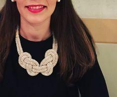 accesorios de lana hechos a mano, nitin.es Lana, Crochet Necklace, Jewelry, Design, Fashion, Necklaces, Scarves, Accessories, Confidence