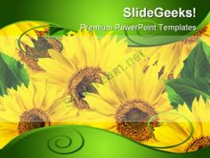 Yellow Flowers Beauty PowerPoint Background And Template 1210 #PowerPoint #Templates #Themes #Background