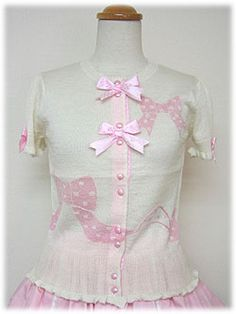 Lolibrary | Angelic Pretty - Cardigan - Polka Dot Ribbon Cardigan
