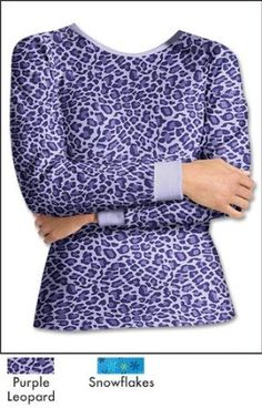1-Pair Hanes Women's Thermal Crew 24707, M, Purple Leopard Hanes. $16.50