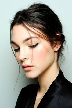 Creating the makeup from the 2014 D & G show