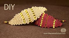 How to make Snaky Macrame Eye Bracelet with Beads. This bracelet looks very interesting and it not hard to make. Watch more macramé bracelets with beads in p.