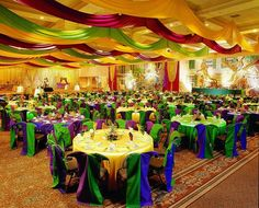 Mardi Gras Wedding Table Decorations | Mardi Gras Producitons
