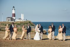Montauk Wedding Photography with Bridal Party at Camp Hero and 360 East at Montauk Downs - Matt Stallone Photography http://www.mattstallonephotography.com/