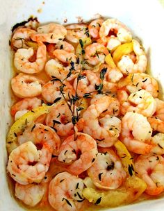 Worlds Recipes Hub: Roasted Lemon Garlic Herb Shrimp